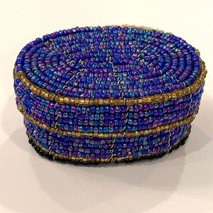 💐5/25 Seed bead trinket jewelry box container
